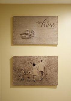 Foto's overbrengen op hout met modpodge.