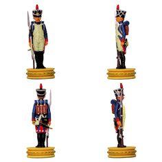 """Fusilero-granadero de la Guardia de la colección de Altaya """"Ajedrez Napoleón"""" Subido desde www.elgrancapitan.org"""