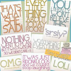 Freebie Quote Journal cards for project life