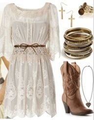 cute church country clothes Minus the jewls Cute Country Outfits, Country Girl Style, Cute N Country, Country Dresses, Country Fashion, Western Outfits, Cool Outfits, Summer Outfits, My Style