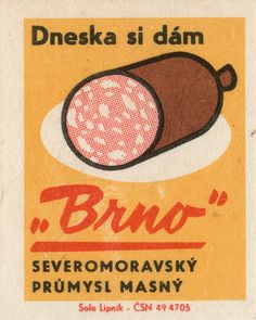 czechoslovakian matchbox label by maraid Retro Design, Graphic Design Art, Vintage Designs, Boho Designs, Book Labels, Matchbox Art, Vintage Labels, Vintage Packaging, Vintage Ephemera