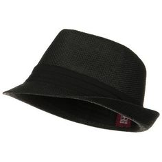 b239020a99ef6 Our Black Black Solid Band Summer Straw Fedora Hat is a cool summer fedora  with a light lining inside! It s made of paper straw for lightness.