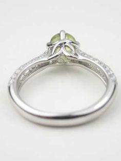 seafoam green engagement ring  | Green Sapphire Engagement Ring, RG-3478
