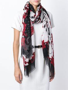 Floral-print Modal And Cashmere-blend Scarf - Black Dolce & Gabbana nhWDpS