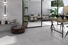 Salon Inspo Energy Light Grey XL Concrete Effect Porcelain Floor Tile Boating Apparel - Fu Grey Marble Tile, Grey Floor Tiles, Granite Flooring, Grey Flooring, Concrete Floors, Marble Floor Kitchen, Light Grey Kitchens, Exterior Tiles, Room Tiles