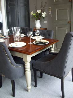 Chalon's renown furniture is sometimes copied but never emulated. Dinning Table, Dining Area, Dining Chairs, Gray Interior, Interior And Exterior, Interior Design Inspiration, Interior Ideas, Kitchen Styling, Fine Dining