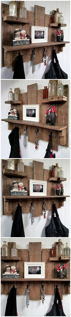 The items that fulfill multiple purposes are great because they save the space as well as the money; it eliminates the requirement of buying or creating the products for different purpose separately. Wood pallets serve well by giving a chance to reshape t Pallet Crafts, Pallet Projects, Home Projects, Pallet Ideas, Woodworking Projects That Sell, Woodworking Ideas, Woodworking Organization, Woodworking Quotes, Woodworking Garage