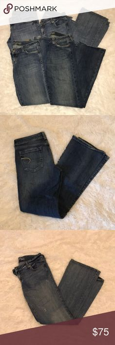 FOUR PAIRS OF American Eagle Jeans 10 LONG ✔️ FOUR PAIRS OF American Eagle AEO Jeans Size 10L. These are gently used and in great condition. Includes the following: EUC American Eagle Outfitters AE Artist Jeans Size 10L - 10 Long. EUC American Eagle Outfitters Favorite Boyfriend Jeans Size 10L - 10 Long. EUC American Eagle Outfitters Boyfriend 77 Jeans Size 10L - 10 Long. EUC American Eagle Outfitters Boyfriend 77 Jeans Size 10L - 10 Long (2 pairs of these).  Comes from a smoke-free home and…