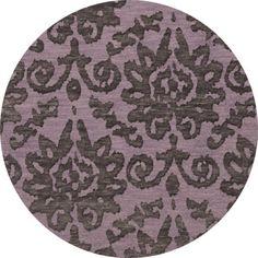 Dalyn Rug Co. Bella Purple Area Rug Rug Size: Round 4'
