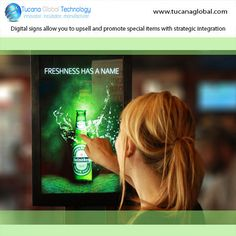 #Digitalsigns allow you to #upsell and #promote #special items with #strategic #integration. #TucanaGlobalTechnology #Manufacturer #HongKong