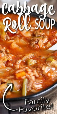 Crockpot Cabbage Roll Soup, Slow Cooker Cabbage Rolls, Cabbage Soup Recipes, Crock Pot Soup, Easy Soup Recipes, Slow Cooker Soup, Slow Cooker Recipes, Crockpot Recipes, Cooking Recipes