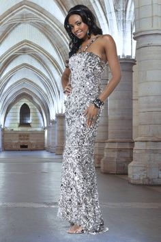 Sheath/Column Sparkly Long/Floor-length Sequined Sequins Prom Dress PD12BB