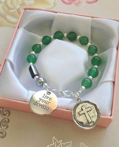 Rosary Bracelet One Decade Rosary Charm Bracelet Live Your