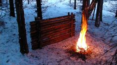 How To Make A Fire Reflector. http://prepperhub.org/how-to-make-a-fire-reflector/