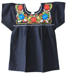 c2ea59d709a Liliana Cruz Embroidered Mexican Peasant Blouse at Amazon Women s Clothing  store  Mexican Shirt Peasant Blouse