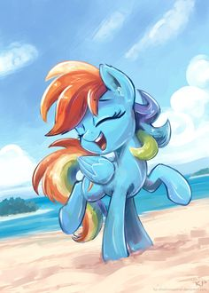 Rainbow Dash at the Beach!