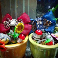 Special Order #Totoro & #Tardis bows. #doctorwho