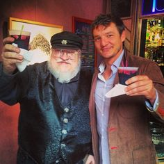 George R.R. Martin and Pedro Pascal
