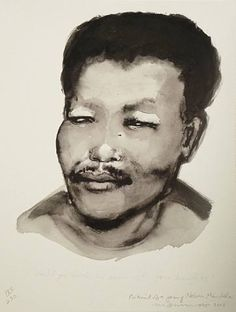Marlene Dumas. Portrait of a Young Nelson Mandela, 2008.
