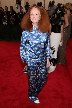 Grace Coddington am Metropolitan Museum of Art.