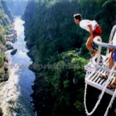 """Bungee jumping over Victoria Falls has been banned from the Zimbabwe side. A few broken cords led to a lot of bad publicity. Shame. These are the falls, when Eleanor Roosevelt saw them, her only comment was """"poor Niagara."""""""
