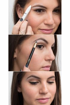 21 Eyeliner Hacks - How To Apply Eyeliner - Seventeen Use white eyeliner as a brow highlighter for an instant eye lift. Line below and above your eyebrows with a thick white liner, and smudge it out with a sponge brush to define your brows.
