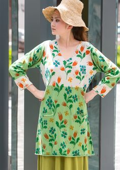 """""""Gullviva"""" tunic in eco-cotton – Gudrun's green choices – GUDRUN SJÖDÉN – Webshop, mail order and boutiques 
