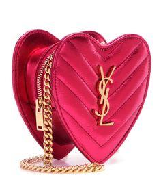 Saint Laurent - Mini Love leather crossbody bag   mytheresa.com