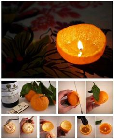 DIY orange candles. I bet these smell soooo good...