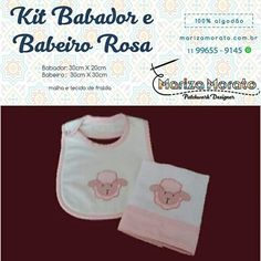 Babador e Babeiro Carneirinho Rosa R$28,00 http://marizamorato.com.br/produto/babador-e-babeiro-rosa/ Whats App (11) 99655 9145