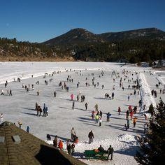 Ice Skating on Evergreen Lake