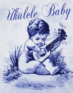 Ukulele Gifts - T-Shirts, Art, Posters & Other Gift Ideas Kala Ukulele, Ukulele Art, Guitar Art, Hawaiian Art, Vintage Hawaiian, Baby Posters, Baby Drawing, Cards For Friends, Playing Guitar