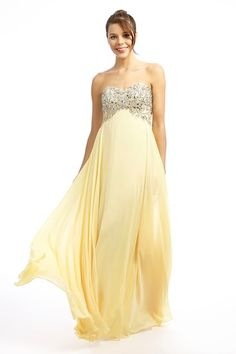 A pretty and feminine embellished empire line dress in crepe chiffon from Dynasty UK Prom Dress 2014, Prom 2015, Best Prom Dresses, Beautiful Prom Dresses, Strapless Dress Formal, Formal Dresses, Wedding Dresses, Designer Prom Dresses, Dress For You