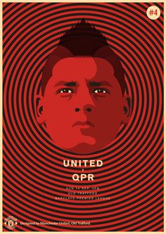 Match poster. Manchester United vs Queens Park Rangers, 14 September 2014. Designed by @manutd.