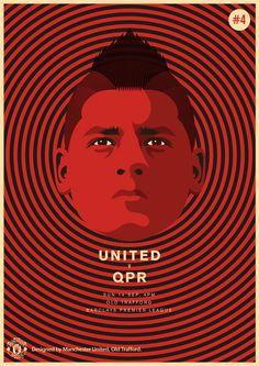Match poster. Manchester United vs Queens Park Rangers, 14 September 2014. Designed by @manutd.