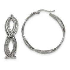 ICE CARATS Stainless Steel Twisted Hoop Earrings Ear Hoops Set Fashion Jewelry Ideal Gifts For Women Gift Set From Heart Do hope that you actually like our picture. (This is an affiliate link) Sterling Silver Hoops, Silver Hoop Earrings, Bow Jewelry, Fashion Jewelry, Gift Sets For Women, Jewelry Companies, Stainless Steel, Walmart, Ice