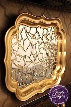 DIY Mirrored Tray Wall decor
