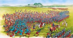 Battle between Britons and the Romans during the conquest of the southern and…