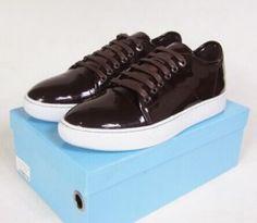 74abb756bd3e Authentic Lanvin Men Royal Blue Low Top Sneakers Nubuck Leather Lace ...