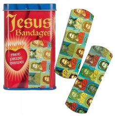 The Jesus Bandage mixes the healing powers of medicine with the spiritual healing of the Christian messiah. In times of trouble, the Jesus Bandage will come to you. Unique Gifts, Best Gifts, Fun Gifts, Flamingo Gifts, Natural Rubber Latex, Band Aid, Latex Free, Stocking Stuffers, Adhesive