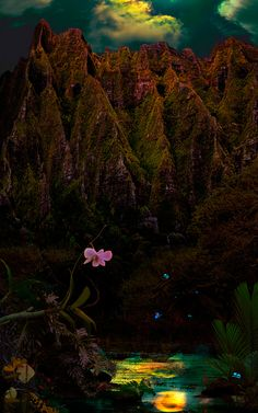 Testifying Regarding The Light / Satoshi Matsuyama  #Satoshi Matsuyama #Hawaii #art #Landscape
