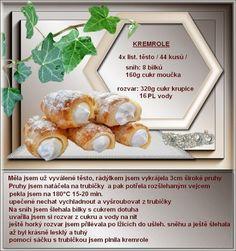 Kremrole Serbia Recipe, 20 Min, Tiramisu, Sweet Tooth, Deserts, Dessert Recipes, Food And Drink, Sweets, Bread