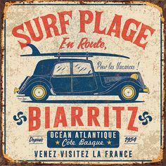 Find tips and tricks, amazing ideas for typography. Discover and try out new things about typography site Vintage Tin Signs, Vintage Diy, Vintage Labels, Vintage Travel, Vintage Postcards, Vintage Images, Poster Vintage, Cool Posters, Travel Posters