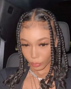 Black Girl Braided Hairstyles, Black Girl Braids, Sleek Hairstyles, Baddie Hairstyles, Braids For Black Hair, Box Braids Hairstyles, Braids With Curls, Pretty Hairstyles, Black Girl Hair