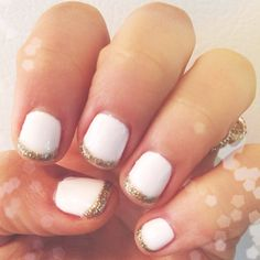new years eve nails in full effect! {for more nye nail ideas head to meganquint.com!}