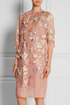 BIYAN Ava embellished silk-blend organza dress | net-a-porter