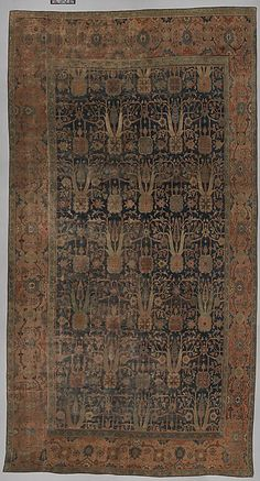 Carpet with Repeating Tree Design