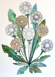 Dandelion Watercolor Painting - Nature Art - Large Archival Print by Marisa Redondo from RiverLuna on Etsy. Saved to This Stuff + My House =. Watercolor Paintings Nature, Dandelion Painting, Art Paintings, Dandelion Drawing, Watercolor Tattoo, Illustration Botanique, Botanical Illustration, Fox Illustration, Portrait Illustration