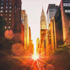New York City Feelings - You've got love in your eyes … New York City by... Sunset Art, City Sunset, Concrete Jungle, City That Never Sleeps, City Photography, Cityscape Photography, Amazing Photography, Vivienne, 42nd Street