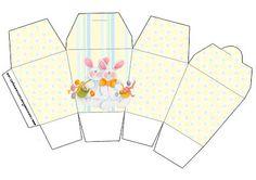 Cajitas imprimibles para Pascua.   Ideas y material gratis para fiestas y celebraciones Oh My Fiesta!